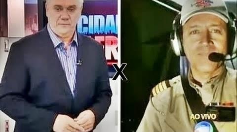 Comandante Hamilton xinga Marcelo Resende ao vivo,confira:
