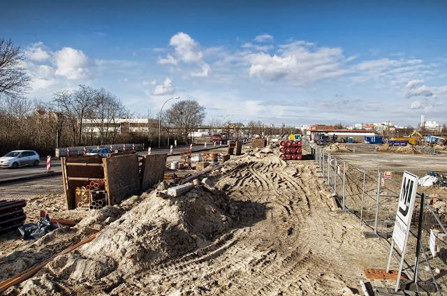 Baustelle Europacity, Entwicklungsgebiet Heidestraße, 10557 Berlin, 06.02.2014