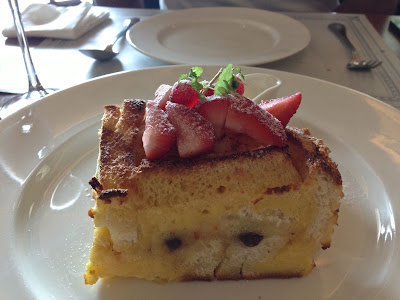 Raisin Bread & Butter Pudding at The White Rabbit