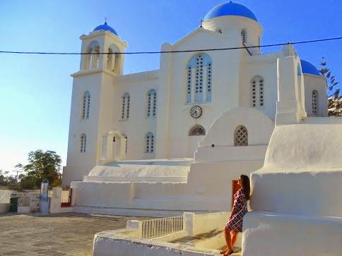 A igreja do centro de Ios