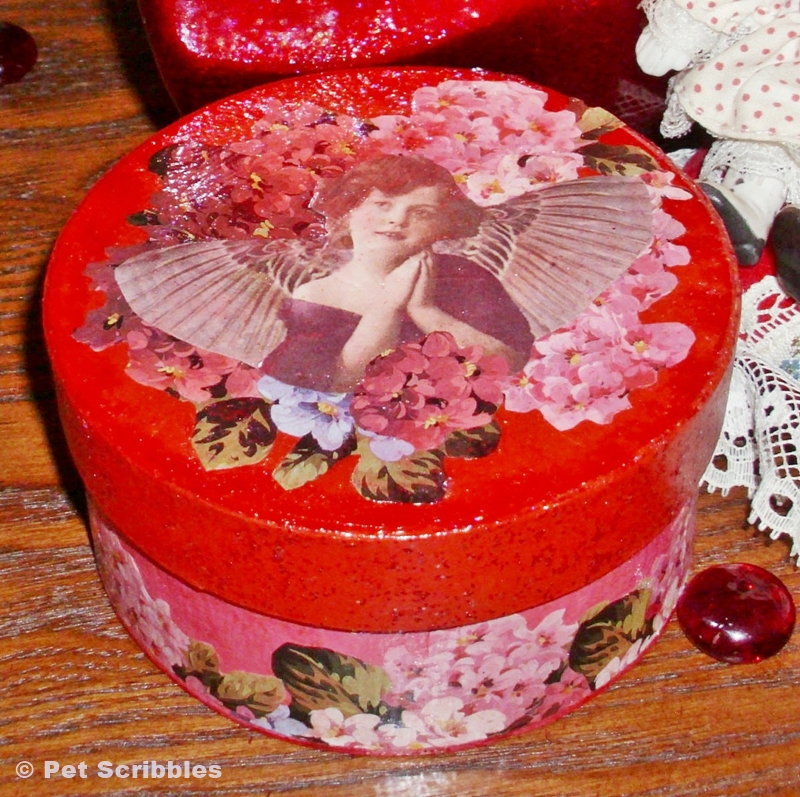Mod Podge Valentine Box DIY with Sparkle Mod Podge | Pet Scribbles