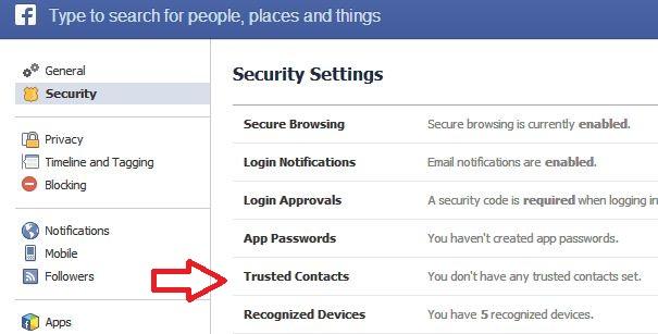 شرح تفعيل خاصية الاشخاص الموثوق فيهم فيس بوك لحماية حسابك