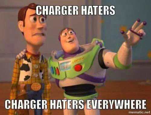 chargers haters charger haters everywhere