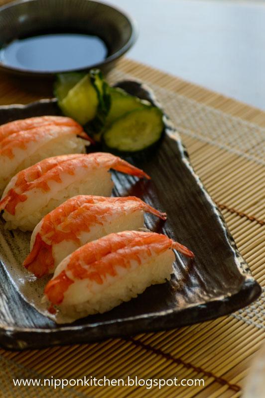 how to make ebi nigiri sushi