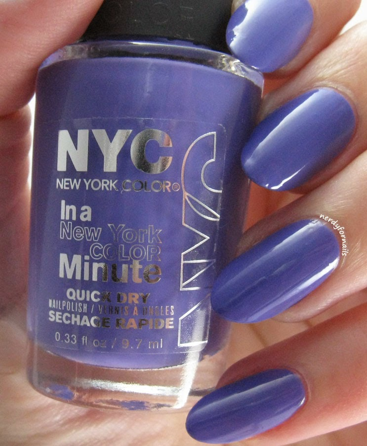 NYC City Samba Collection Jacaranda Flower Swatch Bottle Shot