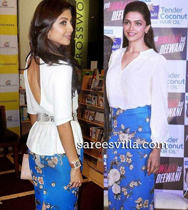 Shilpa Shetty and Deepika Padukone in same dress