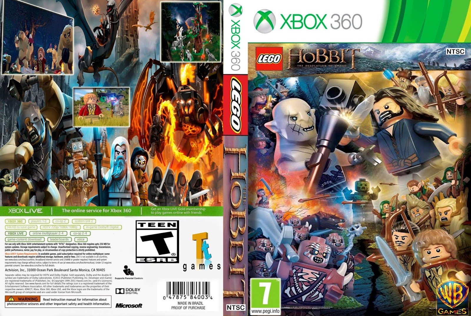 Ultra Capas: Lego The Hobbit - Xbox 360