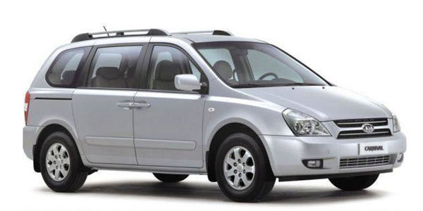 Kia Carnival - Com motor DOHC 3.5 litros V6 e novo câmbio de seis velocidades com opção de troca de marchas sequencial