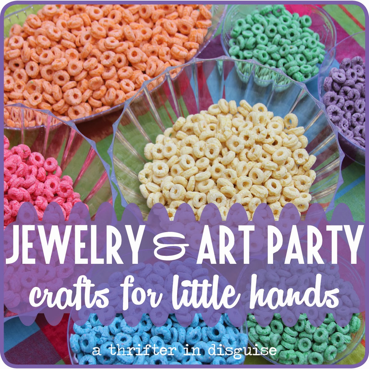 A thrifter in disguise jewelry art themed girls for Craft ideas for birthday parties