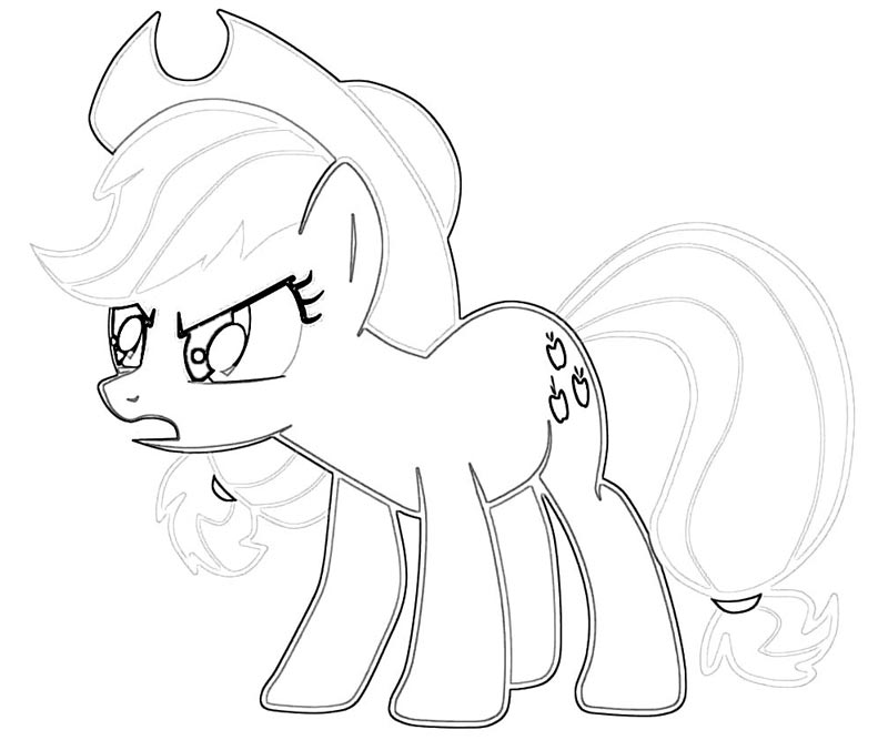 #36 My Little Pony Applejack Coloring Page