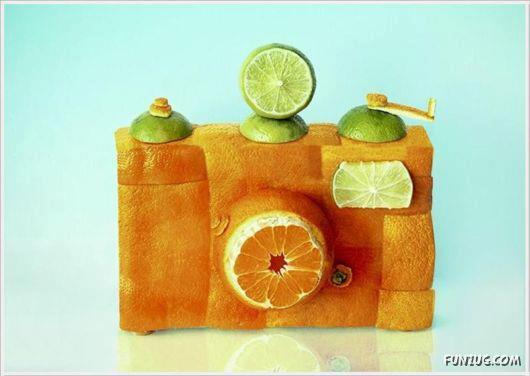 Creativity Art with Bread,Orange and Lemon
