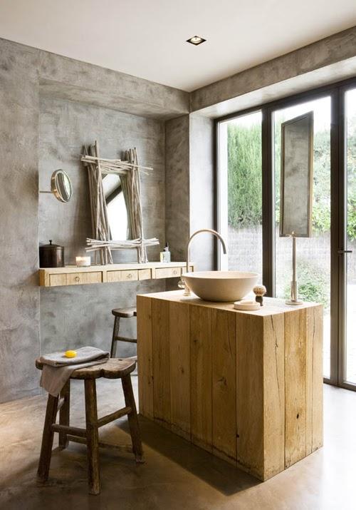 Boiserie c bagni in cemento - Boiserie in legno per bagno ...