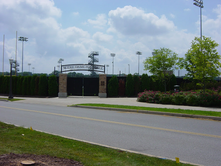 Entrance Notre Dame Practice Football Field Field