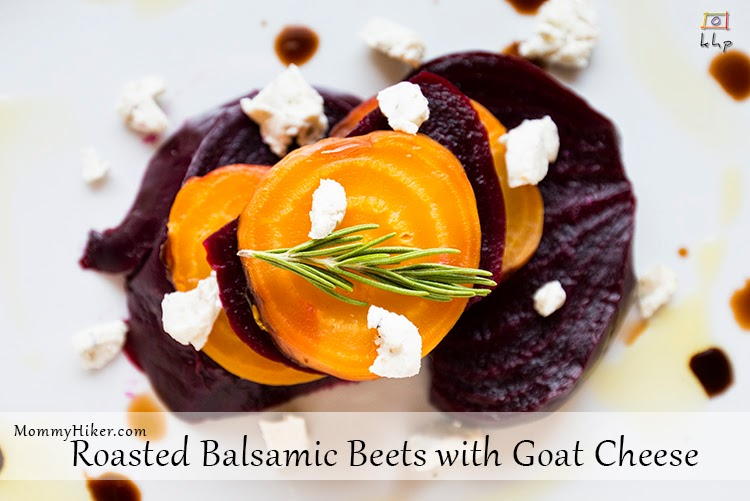 Roasted Balsamic Beets with Goat Cheese