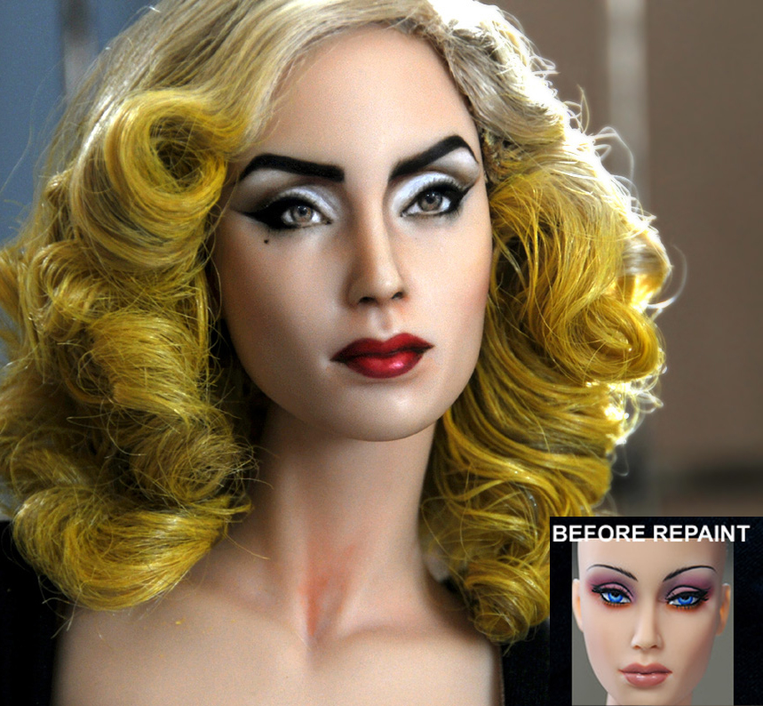 08-Lady-Gaga-Noel-Cruz-Hyper-Realistic-Make-up-on-small-Dolls-www-designstack-co