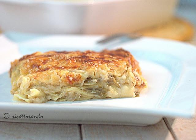 Lasagne vegetariane con carciofi e provola ricetta primi piatti
