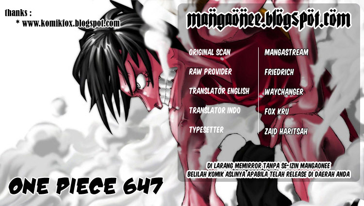Baca Manga, Baca Komik, One Piece Chapter 647, One Piece 647 Bahasa Indonesia, One Piece 647 Online