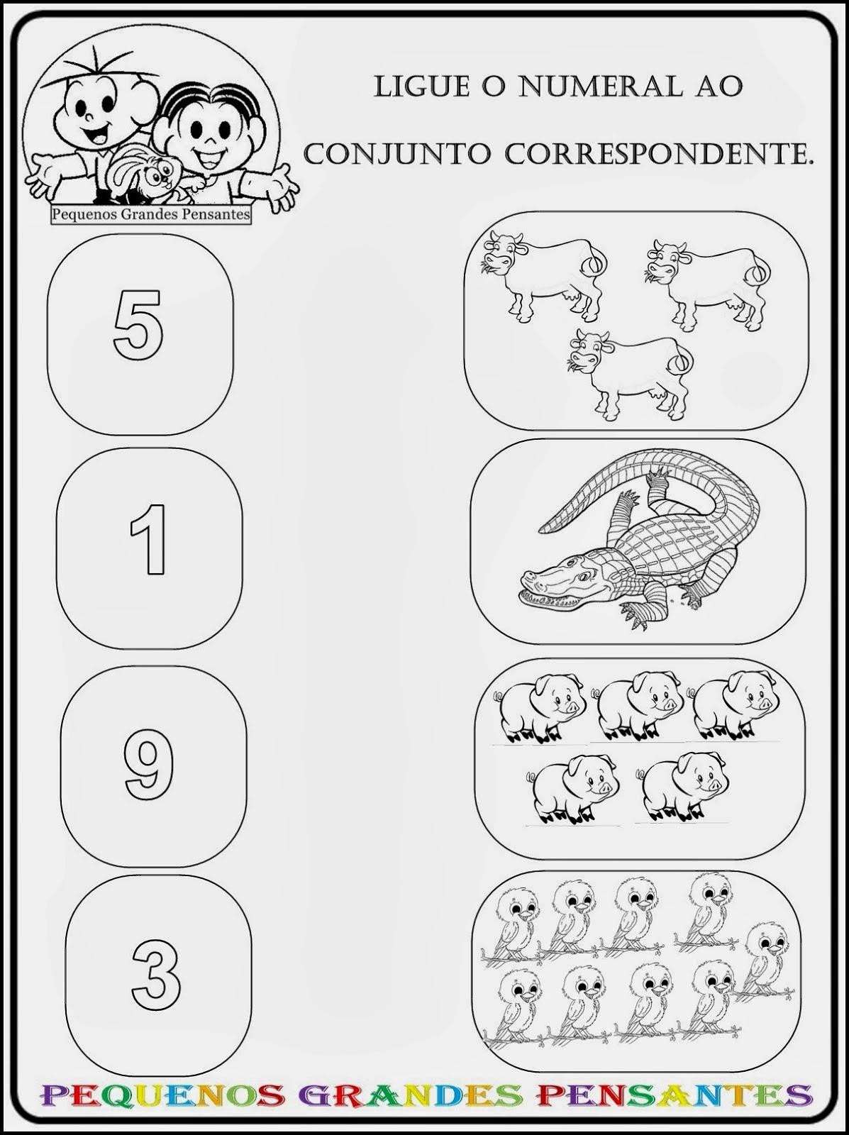 Atividades de Matemática Para Crianças do Jardim