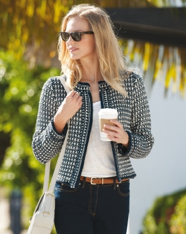 Textured Jacket Cardigan