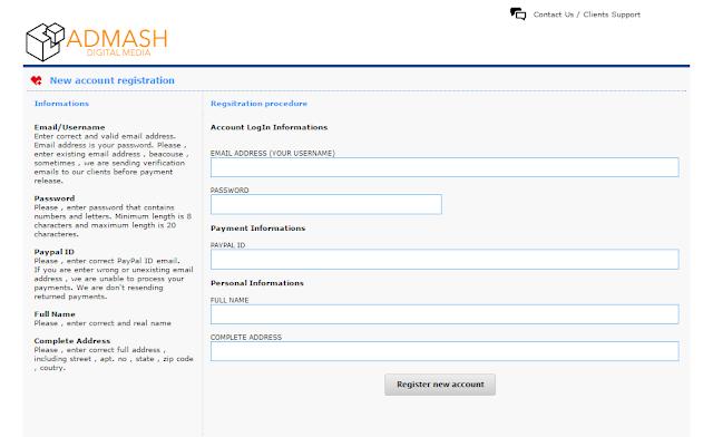 Admashmedia.com – Mạng quảng cáo CPM cho các website/blog