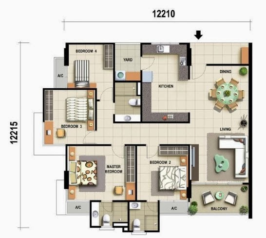 Floor Plan Feng Shui December 2013