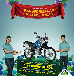 """Concurso Cultural """"Transformação em duas rodas"""""""