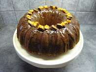 milk chocolate and toffee bundt cake