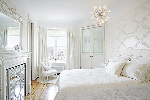 beautiful room - traditional style white master bedroom sputnik chandelier