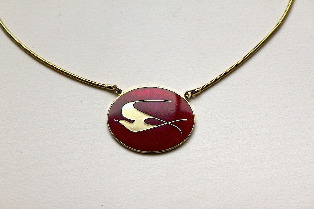 LuckyPatina: Quebec Modernist Enamel Jewelry