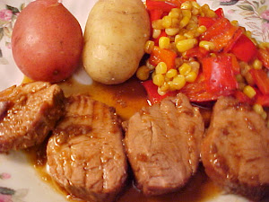 Filets de porc, sauce à l'érable et au Grand Marnier
