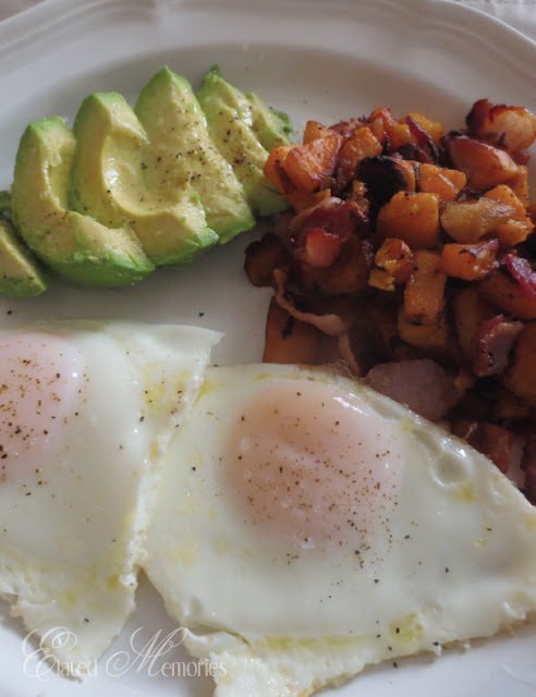 sweet potato hash recipe breakfast bacon coconut oil eggs avocado