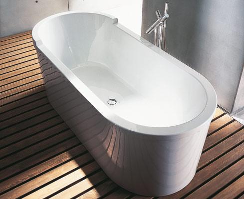 Vasche e saune in bagno con la vasca starck di duravit - Pulire la vasca da bagno ...