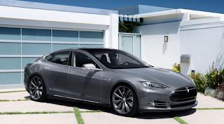 Grey Tesla Model S