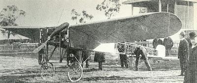 El Bleriot XI a l'Hipòdrom de Cant Tunis, el divendres 11 de febrer del 1910.