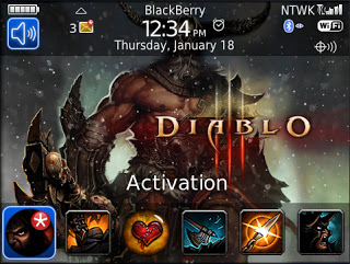 Theme Name : Blackberry Bold 9700 Free Diablo 3 Barbarian Theme