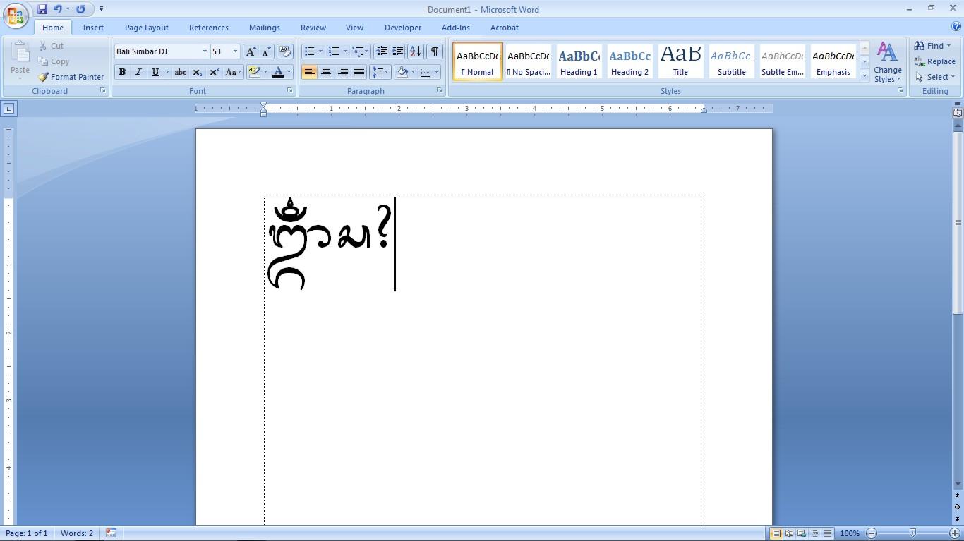 Font Aksara Bali Simbar Free Games Software Full Version