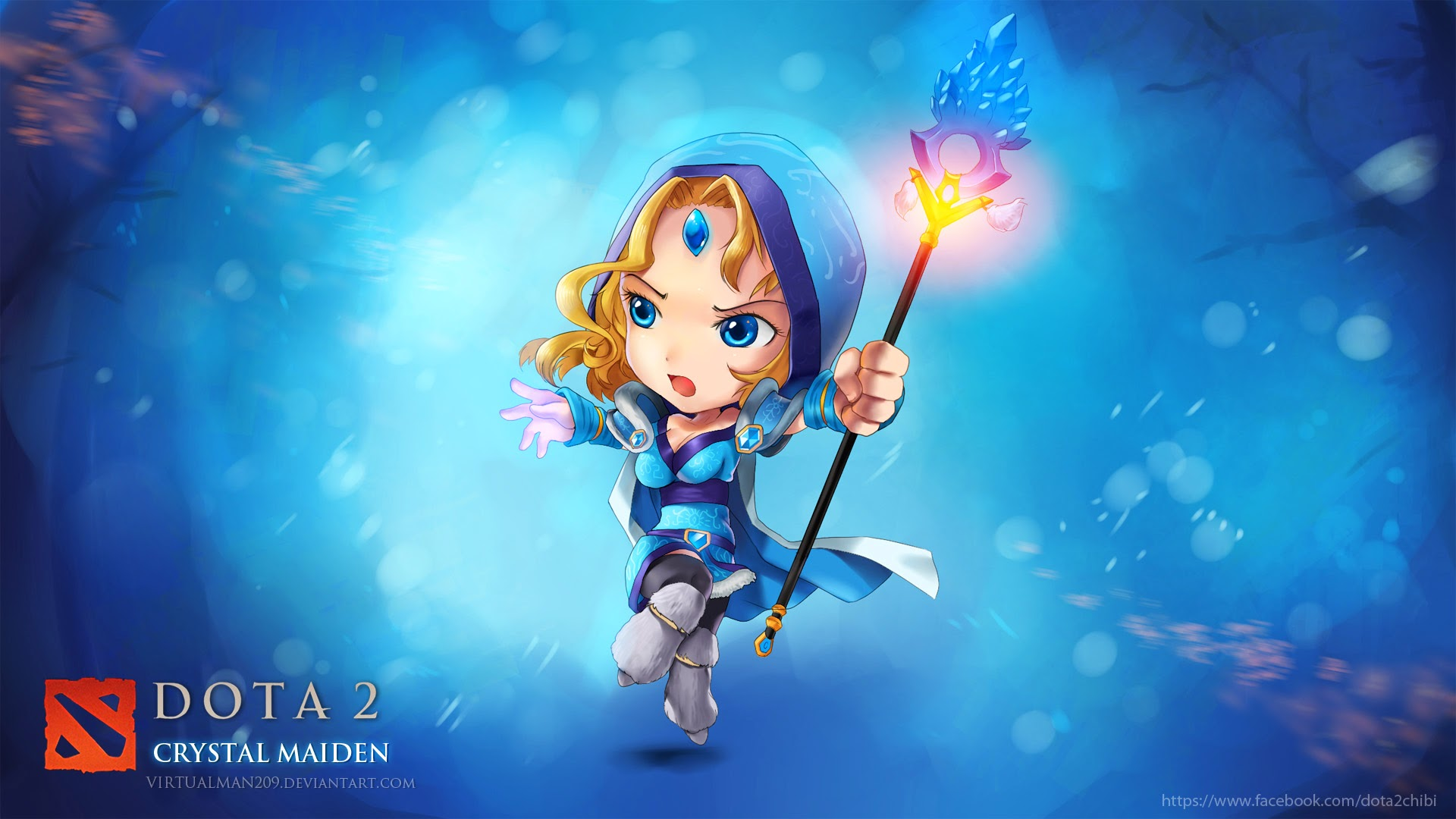 ryali chibi crystal maiden dota 2 girl hero hd wallpaper 1920x1080 62 Rylai Dota 2 Chibi
