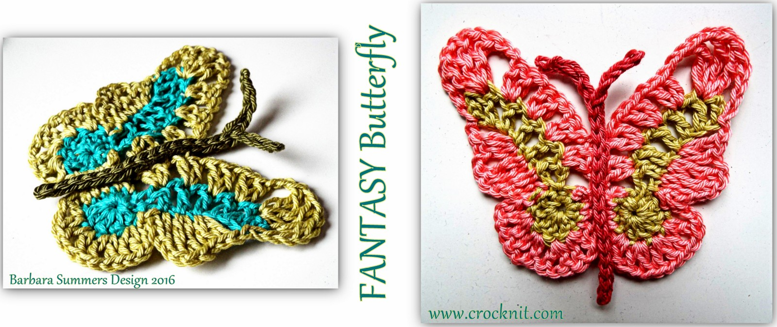 Crochet Fantasy : crochet patterns, how to crochet, butterfly, butterflies, fantasy,