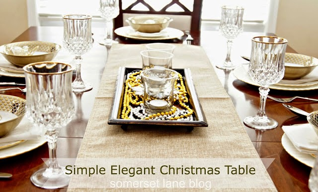 Elegant Christmas Table