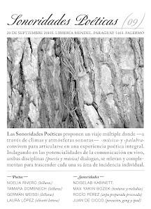 Sonoridades Poéticas. Librería Mendel. 2012.