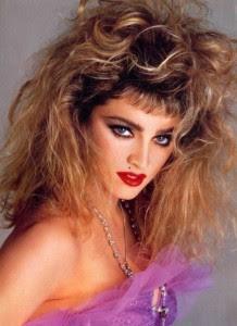 Madonna 80's Hair