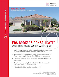 ERA Brokers published its July 2013 Market Report for the Washington County Area.