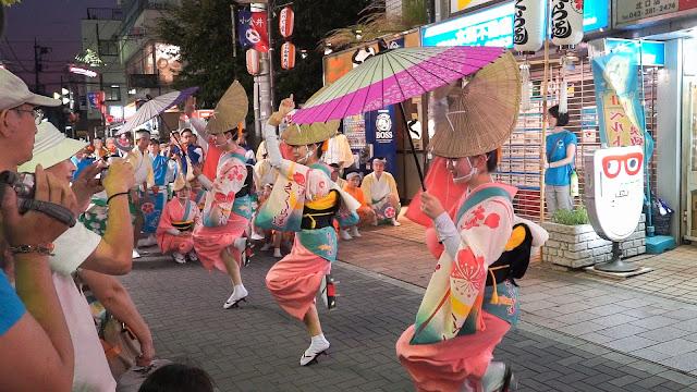 さくら連 小金井阿波踊り 2015 紙舞日傘を使った組踊り