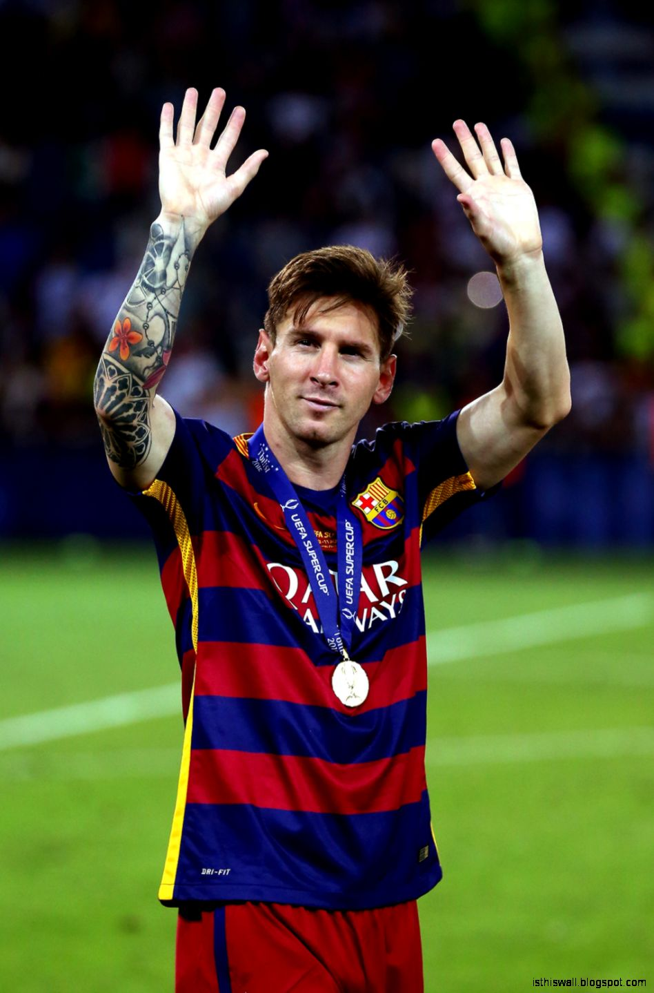 Lionel Messi helps Barcelona beat Sevilla 5 4 in UEFA Super Cup