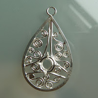 Filigree silver pendant made during Amy Surman workshop