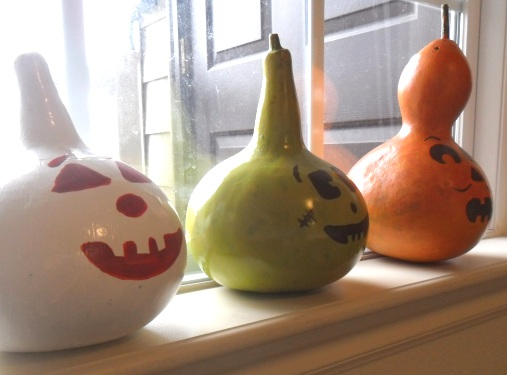 Painted Birdhouse Gourds