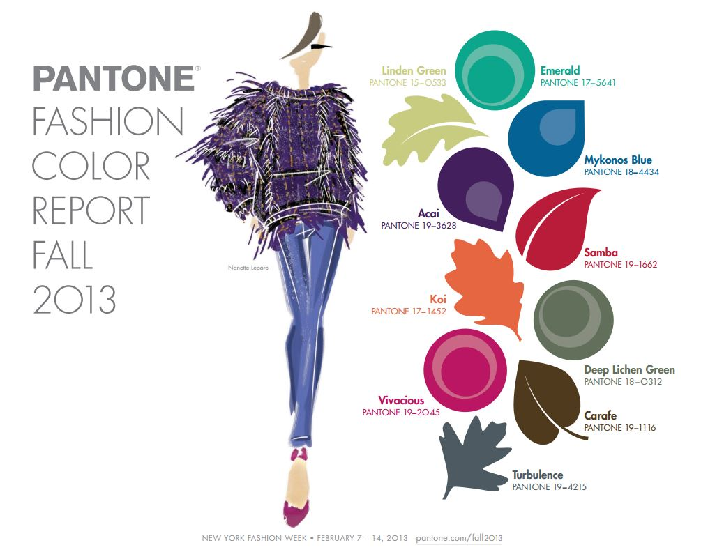 Thediva Style Design Guide 2013 Fall Fashion Color Trends