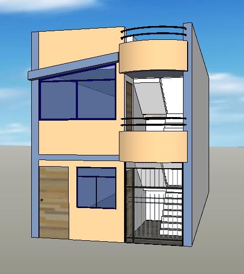 Fachadas y casas casas con fachadas de 4 metros for Modelos de casas minimalistas sencillas