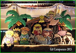 Christ's stable with children's caricature