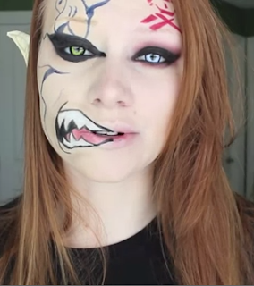 naruto's gaara halloween makeup style for girls